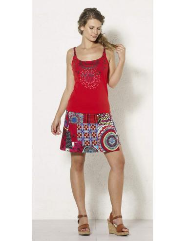 1 Falda algodon reversible 40 cm