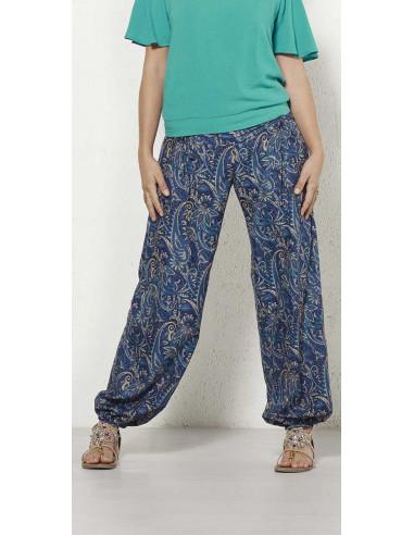 1 Pantalon poliester cordon cintura sari