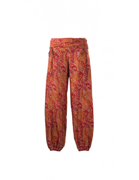 4 Pantalon poliester cordon cintura sari