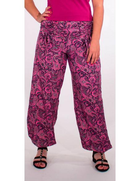 1 Pantalon poliester cintura con cordon sari dorado