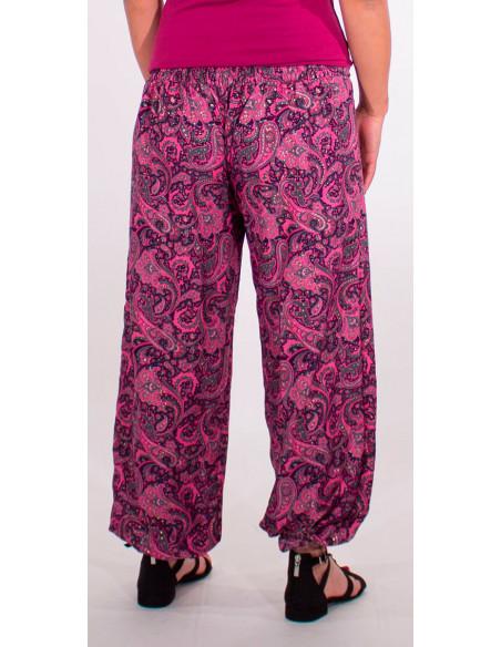 5 Pantalon poliester cintura con cordon sari dorado