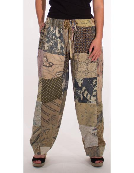 1 Pantalon algodon patchwork