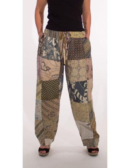 2 Pantalon algodon patchwork