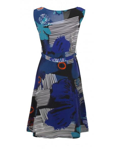 3 Vestido malla 96% poliester 4% elastanosans mangas estampado abysse