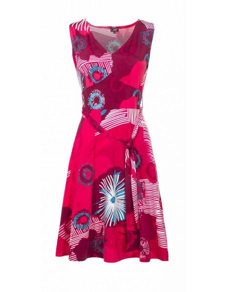 4 Vestido malla 96% poliester 4% elastanosans mangas estampado abysse
