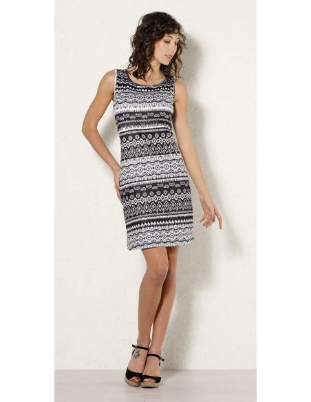 1 Vestido malla 95% poliester 5% elastano negro y blanco