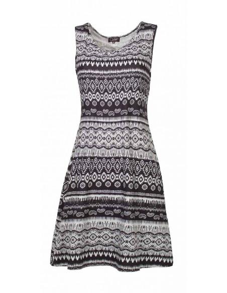 2 Vestido malla 95% poliester 5% elastano negro y blanco