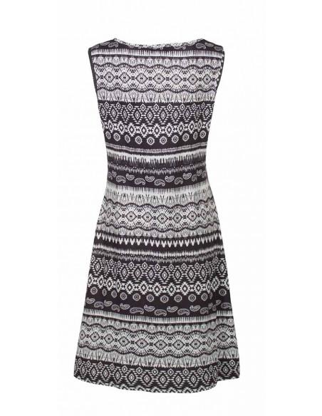 3 Vestido malla 95% poliester 5% elastano negro y blanco