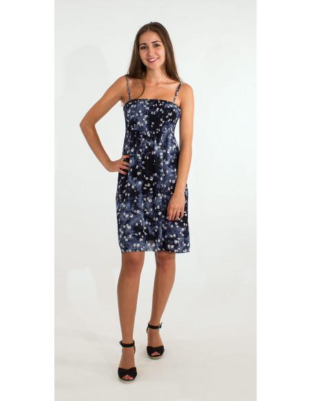 1 Vestido de viscosa corpiño elastico T/D flor