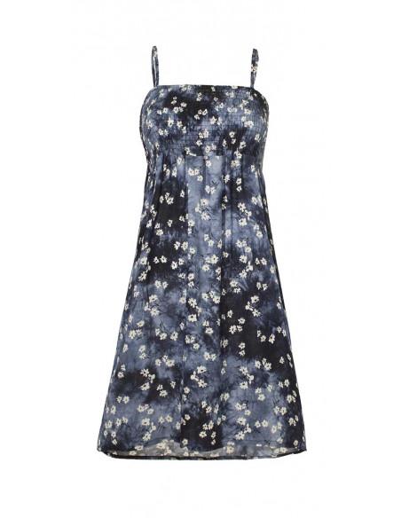 3 Vestido de viscosa corpiño elastico T/D flor