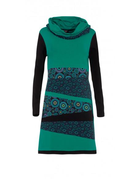 2 Vestido malla 97% algodón 3% elastano patch
