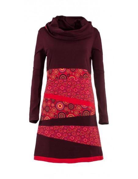 4 Vestido malla 97% algodón 3% elastano patch
