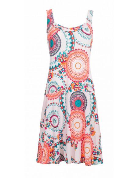 2 Vestido malla 96% poliester 4% elastano sin mangas estampado sublime