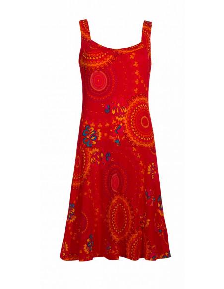 4 Vestido malla 96% poliester 4% elastano sin mangas estampado sublime