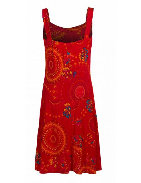 5 Vestido malla 96% poliester 4% elastano sin mangas estampado sublime