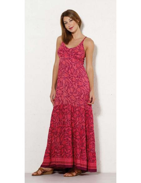 1 Vestido largo poliester tirantes sari