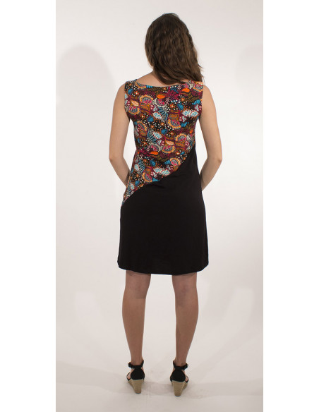 3 Vestido malla 97% algodon 3% elastano sin mangas estampado malaga