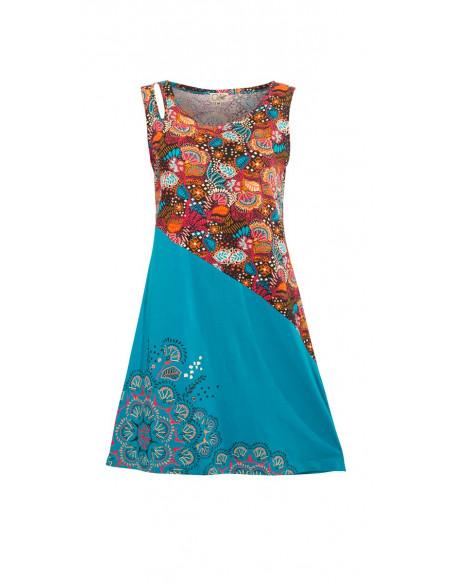 4 Vestido malla 97% algodon 3% elastano sin mangas estampado malaga