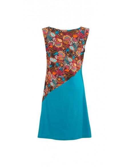 5 Vestido malla 97% algodon 3% elastano sin mangas estampado malaga