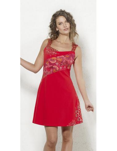 1 Vestido malla 97% algodon 3% elastano sin mangas con patchs