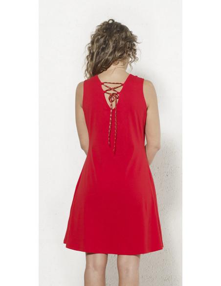 2 Vestido malla 97% algodon 3% elastano sin mangas con patchs