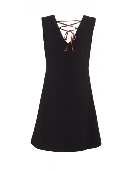 4 Vestido malla 97% algodon 3% elastano sin mangas con patchs