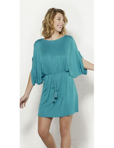 1 Vestido malla 95% viscosa 5% elastano liso hombro desdunos