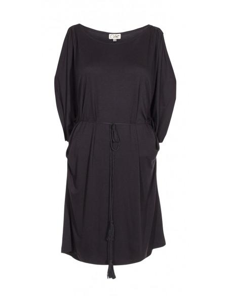 3 Vestido malla 95% viscosa 5% elastano liso hombro desdunos