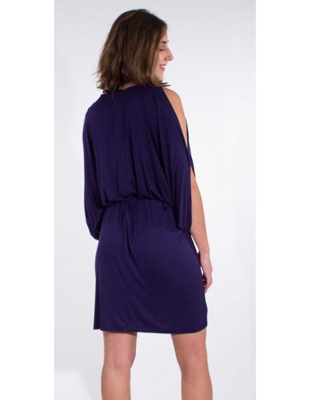 5 Vestido malla 95% viscosa 5% elastano liso hombro desdunos