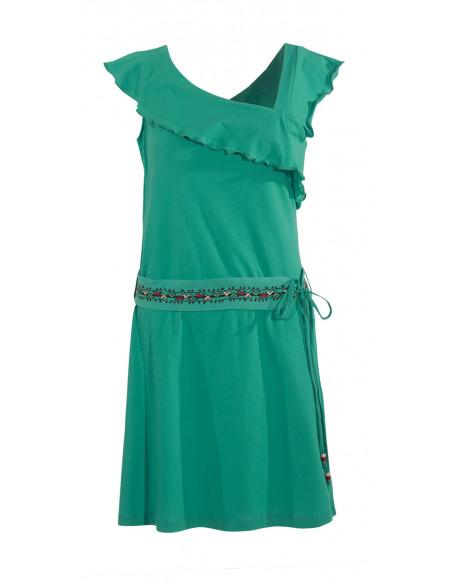 3 Vestido malla 97% algodon 3 % elastano sin mangas cintura bordado