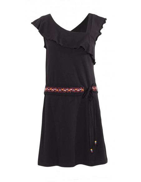 4 Vestido malla 97% algodon 3 % elastano sin mangas cintura bordado