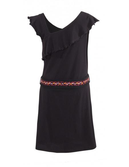 5 Vestido malla 97% algodon 3 % elastano sin mangas cintura bordado