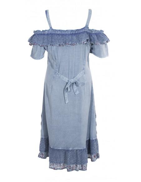 3 Vestido viscosa sw bordado hombros desnudos