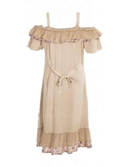 5 Vestido viscosa sw bordado hombros desnudos