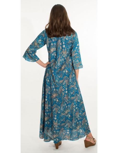 5 Vestido poliester sari