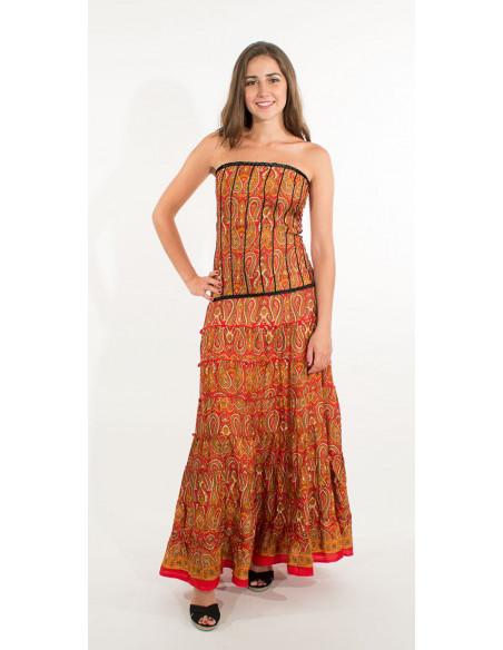 4 Vestido poliester sari