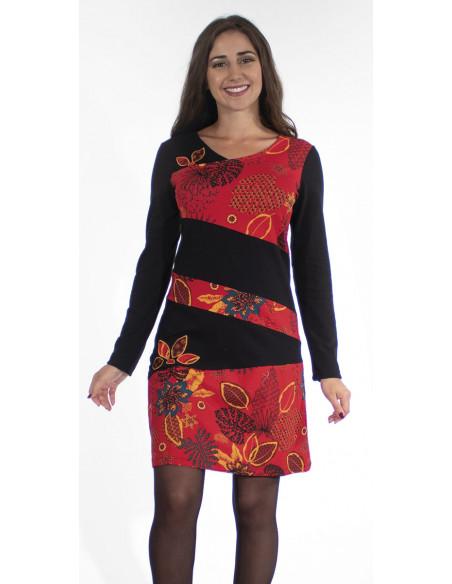 1 Vestido malla 97% algodon 3% elastano patchs