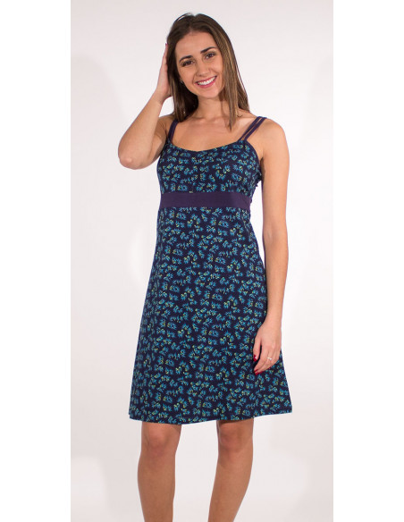 1 Vestido malla 97% algodon 3% elastano tirantes estampado eclat