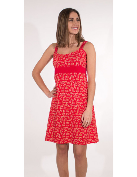2 Vestido malla 97% algodon 3% elastano tirantes estampado eclat