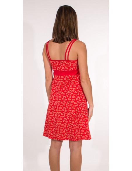 3 Vestido malla 97% algodon 3% elastano tirantes estampado eclat
