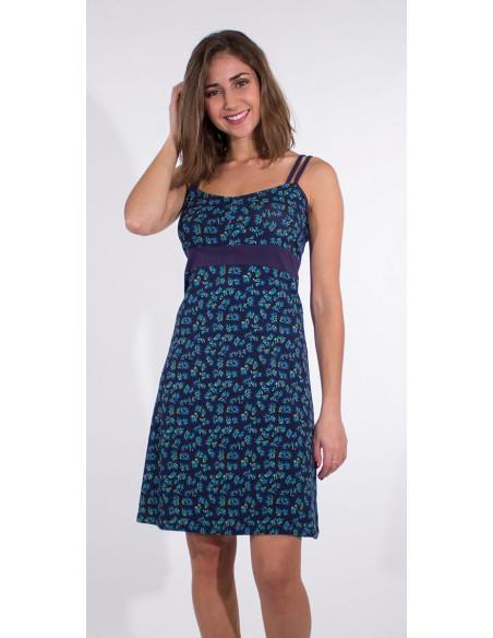 4 Vestido malla 97% algodon 3% elastano tirantes estampado eclat