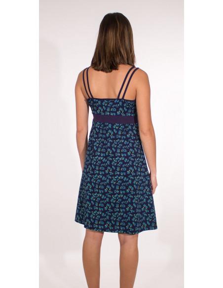5 Vestido malla 97% algodon 3% elastano tirantes estampado eclat