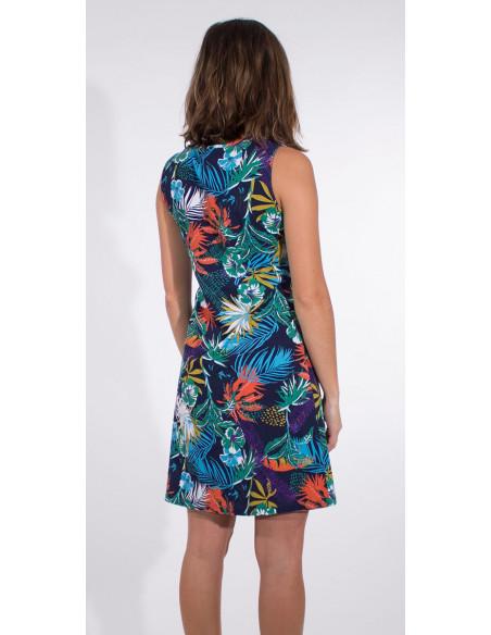 5 Vestido malla 97% algodon 3% elastano camiseta estampado vegetal