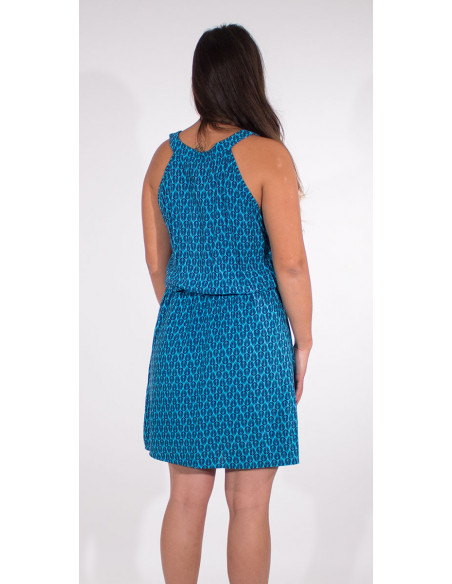5 Vestido viscosa sin mangas estampado paon