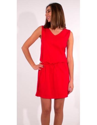 1 Vestido malla 95% algodon 5% elastano cuello v liso