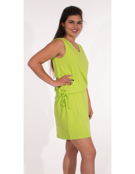 2 Vestido malla 95% algodon 5% elastano cuello v liso