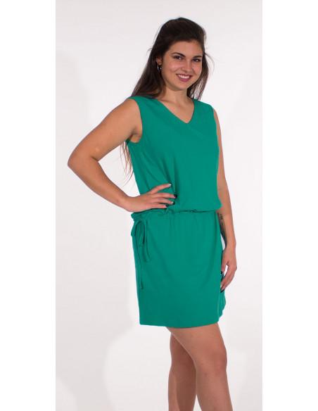 3 Vestido malla 95% algodon 5% elastano cuello v liso