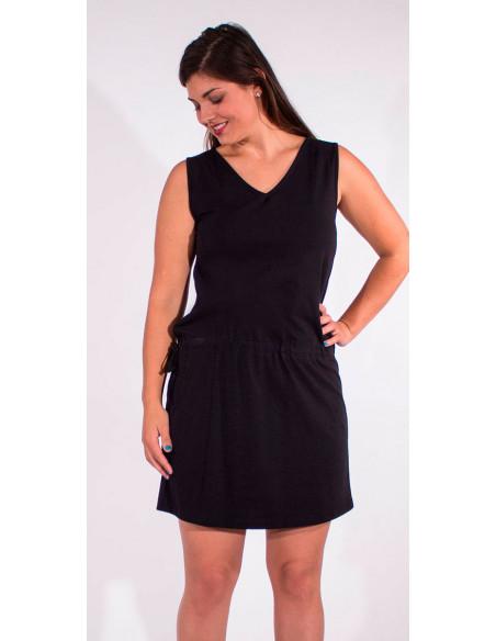 4 Vestido malla 95% algodon 5% elastano cuello v liso