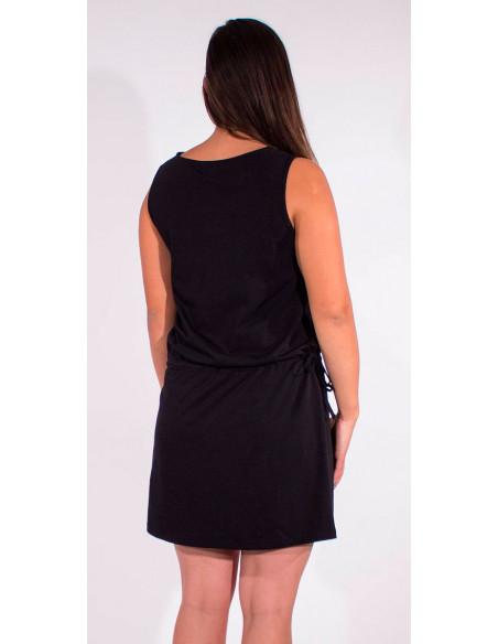 5 Vestido malla 95% algodon 5% elastano cuello v liso