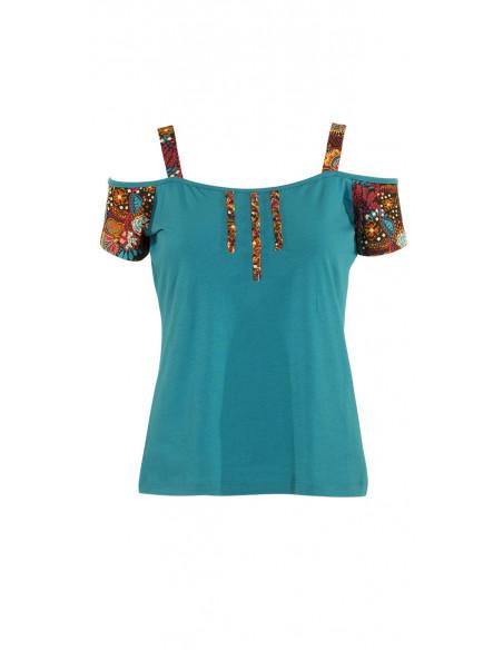 4 Camiseta 97% algodon 3% elastano estampado malaga